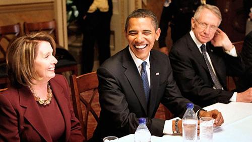 Barack Obama, Nancy Pelosi, Harry Reid