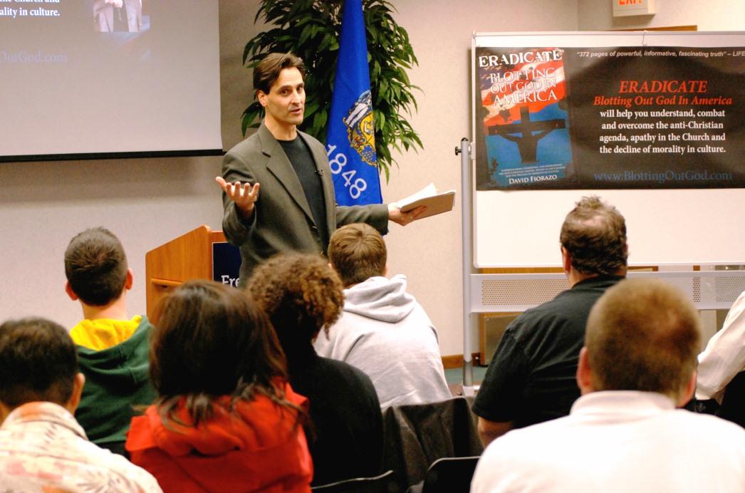 David speaking