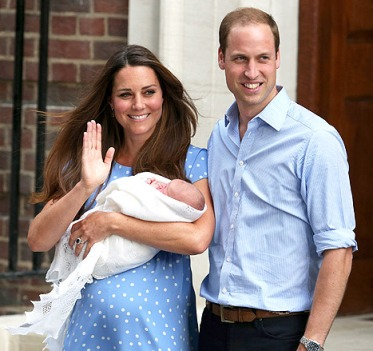 kate middleton holding baby