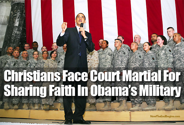 court marshall for sharing faith in military
