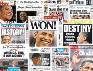 front pages obama election