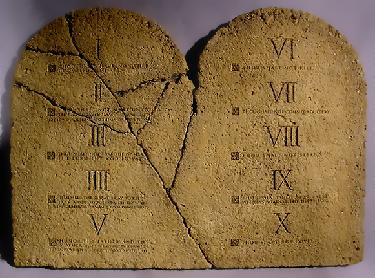 cracked ten-commandments