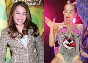 miley cyrus then and now