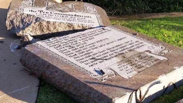 broken ten commandments